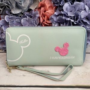 Vegan Leather Mickey Mouse Clutch Wallet Checkbook